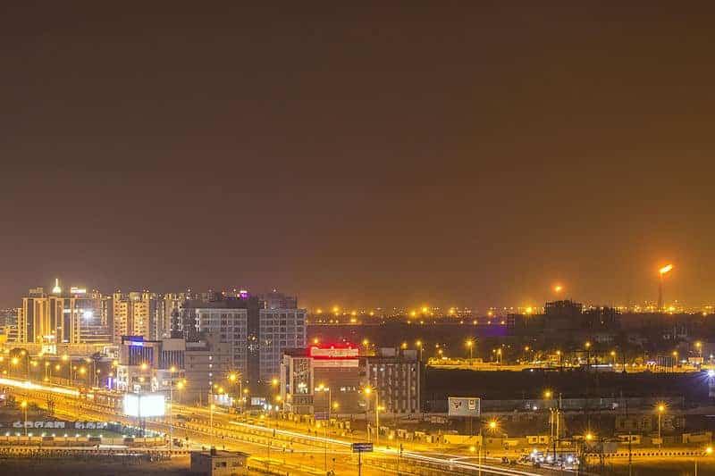 Image of Surat at night